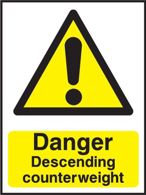 Danger Descending counterweight
