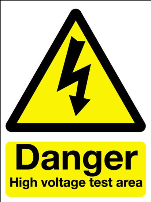 Danger high voltage test area