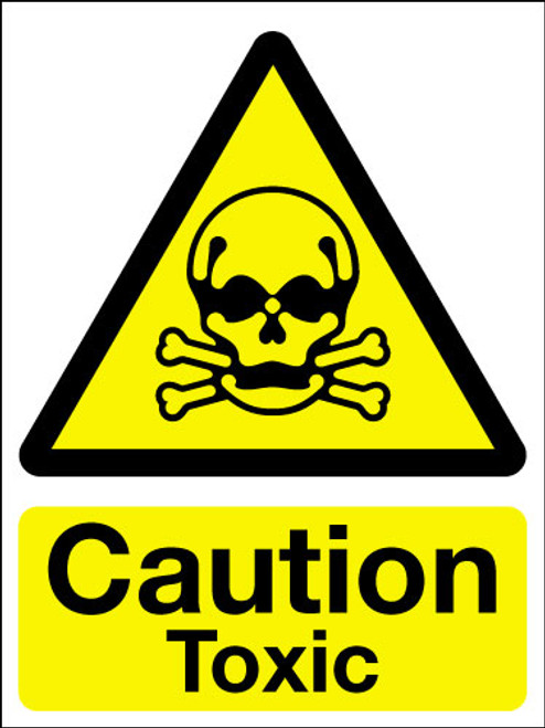Caution toxic sign