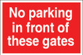 No parking in front of these gates.