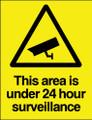 This area is under 24hr surveillance sign