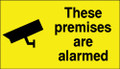These premises are alarmed window sticker