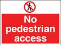 Site safety sign No pedestrian access