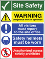 Site Safety sign Warning...