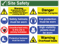 Site Safety sign Warning Dangerous site...
