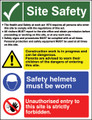 Site Safety sign The Health and Safety work act 1974...
