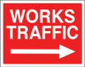 Works traffic right sign