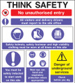 Think safety construction sign