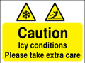 Caution Icy conditions sign