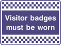 Visitor badges must be worn security sign