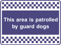 This area is  patrolled security sign