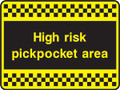 High risk pickpocket area