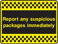 Report any suspicious packages