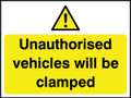 Unauthorised vehicles will be clamped