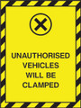 Unauthorised vehicles will be clamped.