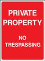 Private property no trespassing..