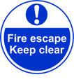Fire escape Keep clear Anti-slip