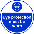 Eye Protection Must Be Worn Anti-slip