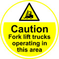 Caution Fork Lift Trucks Anti-slip