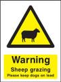 Warning Sheep Grazing
