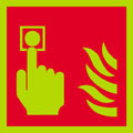 photoluminescent Fire alarm logo