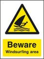 Beware Windsurfing area