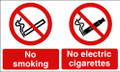 No smoking No electric cigarettes