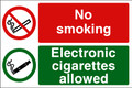 No somking Electronic cigarettes allowed