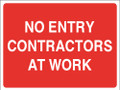 No entry contractors at work