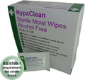 HypaClean Sterile Moist Wipes (Pk of 100)
