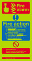 Nite-glo Fire alarm Fire action notice