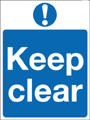 Keep clear sign