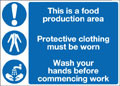This is a food production area...sign