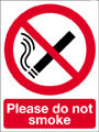 Please do not smoke sign