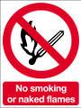 No smoking no naked flames sign