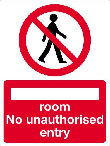 No Unauthorised Entry Sign Signs 2 Safety