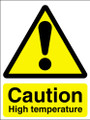 Caution high temperature sign