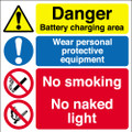 Danger battery charging area Y015