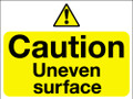 Caution uneven surface sign