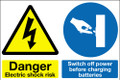 Danger electric shock risk Switch off power...
