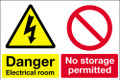 Danger electrical room No storage permitted