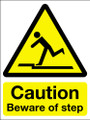 Caution beware of step