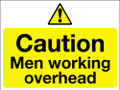 Caution men working overhead sign