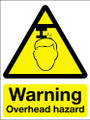 Warning overhead hazard sign