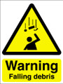 Warning falling debris sign