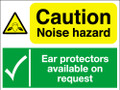 Caution noise hazard Ear protectors sign