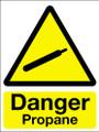 Danger propane sign