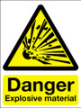 Danger explosive material sign