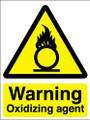 Warning oxidizing agent sign