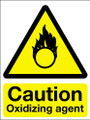 Caution oxidizing agent sign